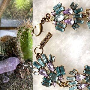 JEWELMINT Blue topaz, amethyst & peridot bracelet